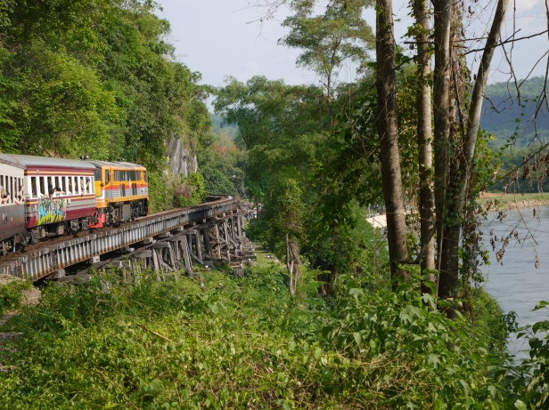 On the Death Railway in Thailand