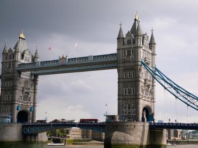 Tower Bridge with Grey Skies