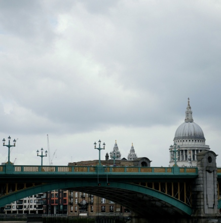 St Paul's in the clouds