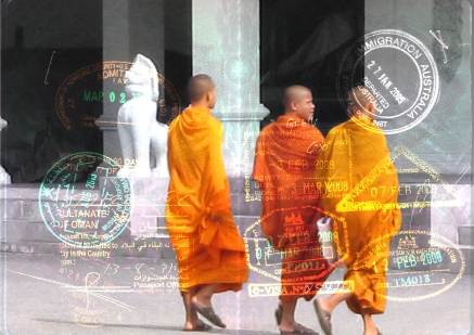 Bangkok, monks