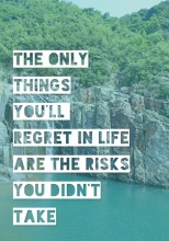 The only things you regret
