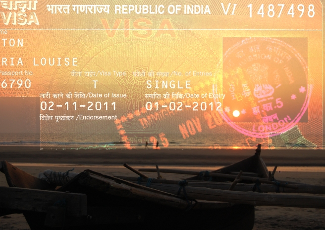 India, Goa, beach, sunset, fishing boat