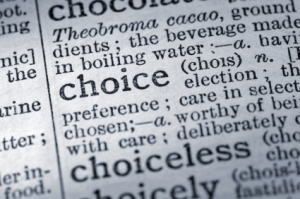 choice, text, definition, dictionary