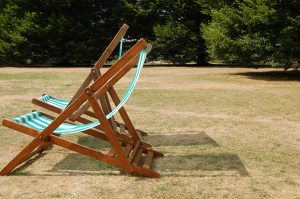 deckchair, stripy, regents park, sunshine, empty