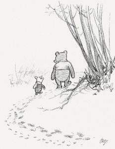 Winnie the Pooh, Piglet, AA Milne, holding hands